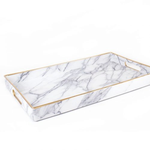 ADORE this gorgeous marble tray catchall!!