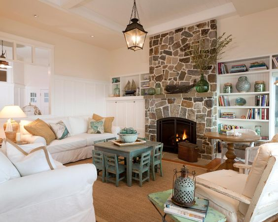 How to decorate around a tv a blissful nest interior for Minimalist cottage style