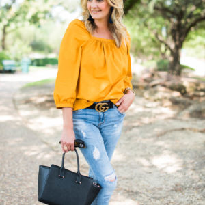 What I Wore: Mustard Yellow For Fall