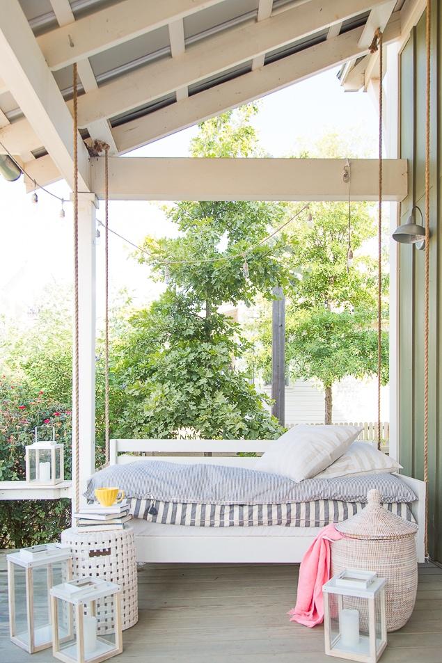 Just love this porch by Pencil Shavings Studio!! #porchideas
