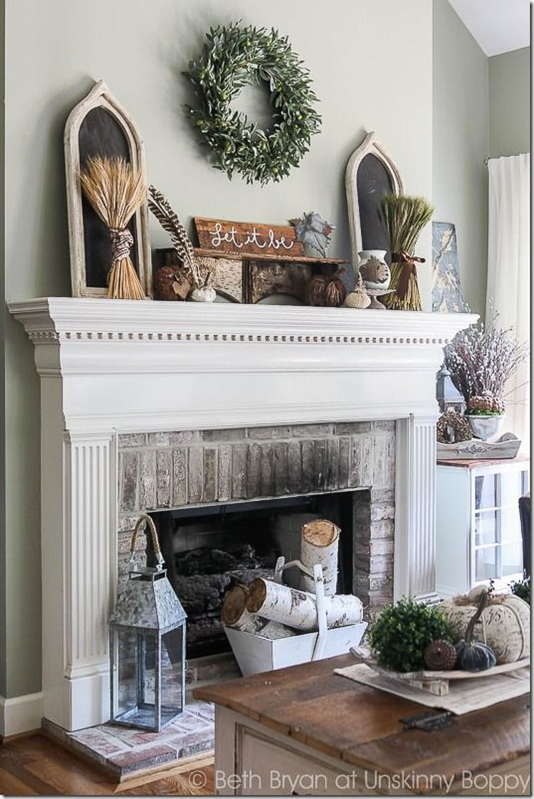 How to Decorate and Accessorize A Mantel - A Blissful Nest