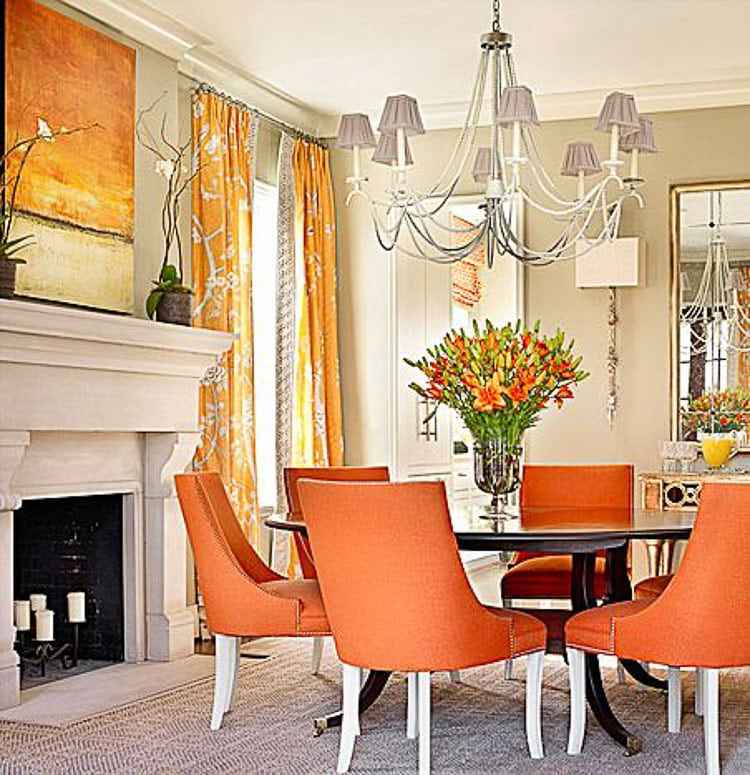 Dining Room Orange: How To Decorate With Orange + The Best Orange Paint Colors