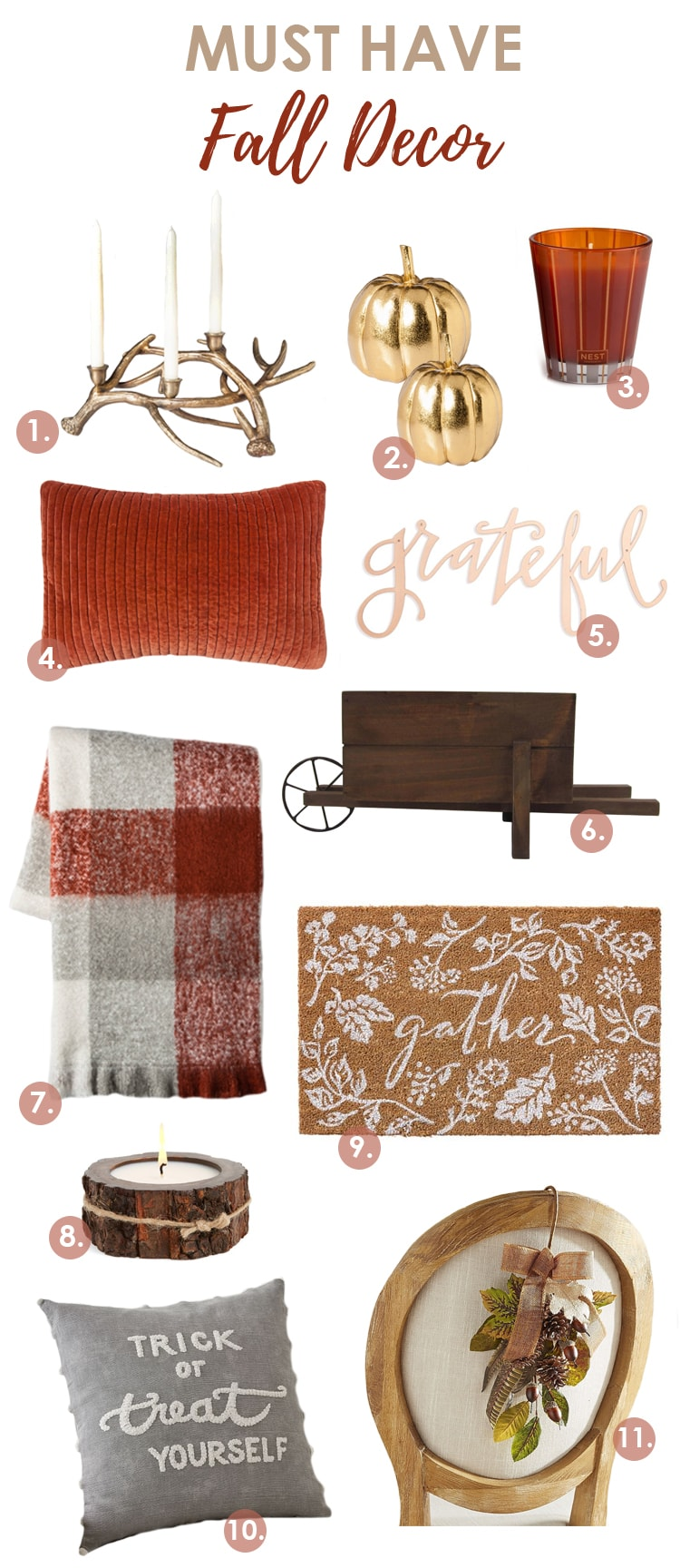 11 of THE Best must have fall decor this year! #falldecor #falldecorating #fallideas