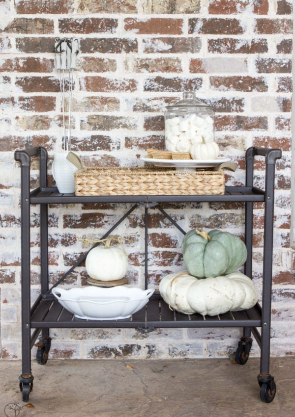Outdoor S'mores Bar Cart for Fall Entertaining With Friends