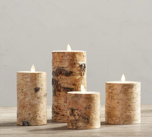 Love these birch flameless candles for fall and winter decor!