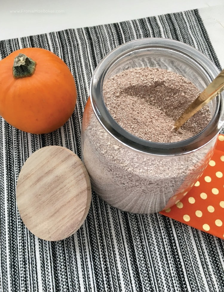 This Pumpkin Spice Hot Chocolate Mix recipe is easy to make and keep on hand. Great for gifting during the holidays.