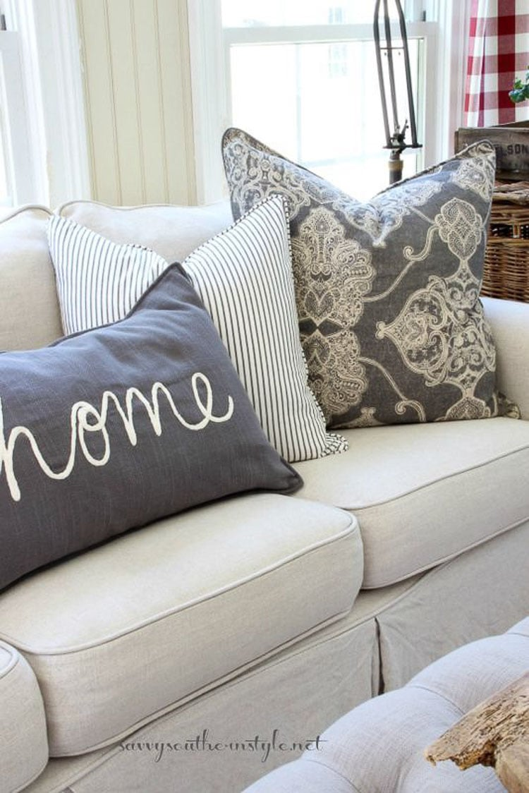 Image of: How To Style Throw Pillows 3 Designer Styling Tips A Blissful Nest