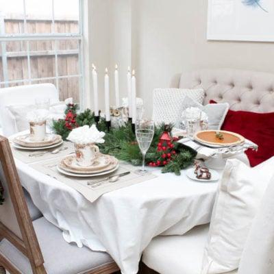 Woodland Holiday Table Setting + Bring #JoyToTheTable