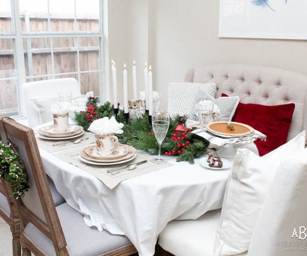 Woodland Holiday Table Setting + Bring #JoyToTheTable