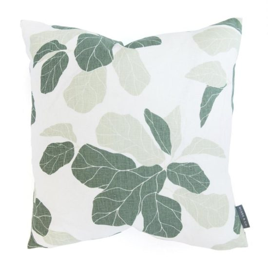 The most gorgeous fiddle leaf fig pillow and it is on MEGA sale!