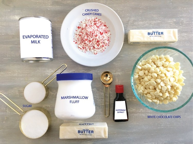 This old fashion peppermint white chocolate fudge recipe is perfect for holiday entertaining and gifting
