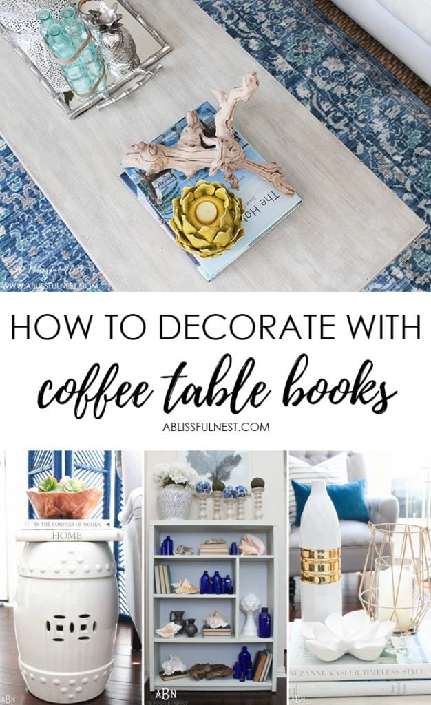 The best tips & tricks to decorate with coffee table books! #designtips #coffeetable #livingroom #homedecor #decorideas