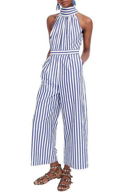 Adore this blue and white romper for spring!