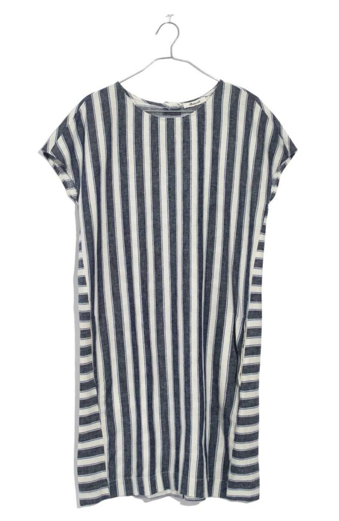 In love with the preppy stripes of this dress for spring.