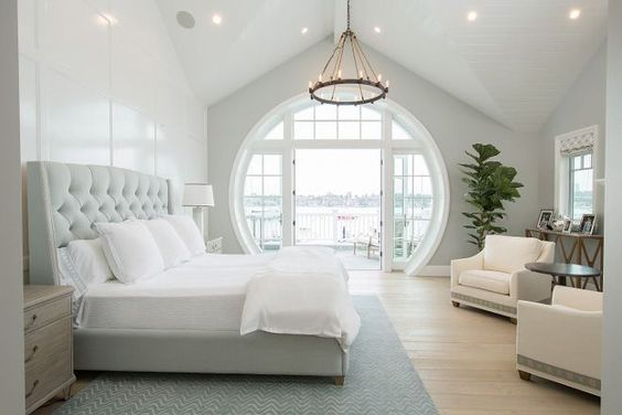 Love the gorgeous color palette of this coastal bedroom.