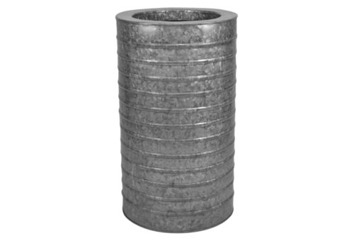 The perfect galvanized planter for the back patio