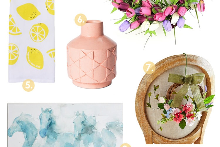 Pretty Pastel Spring Decor Finds Under $100