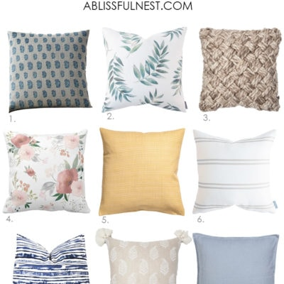 My Favorite Spring Pillows For The Season