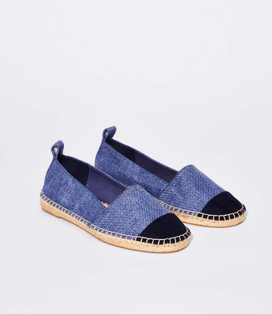 How cute are these denim espadrilles for spring and summer!
