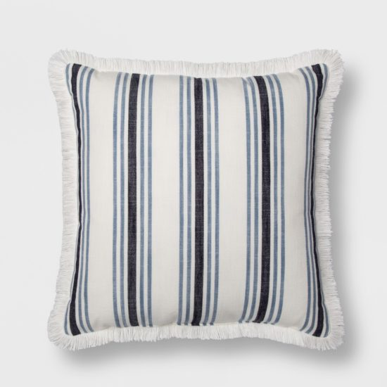 Love the beautiful classic stripe of this linen pillow.