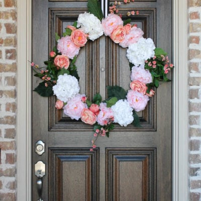 My Spring Front Porch with Blush & Black Accents