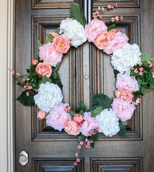 How to Make a Gorgeous Peony Flower Wreath