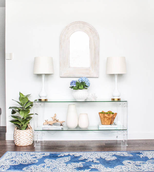 Coastal Entryway Reveal + Small Entryway Ideas + Source List