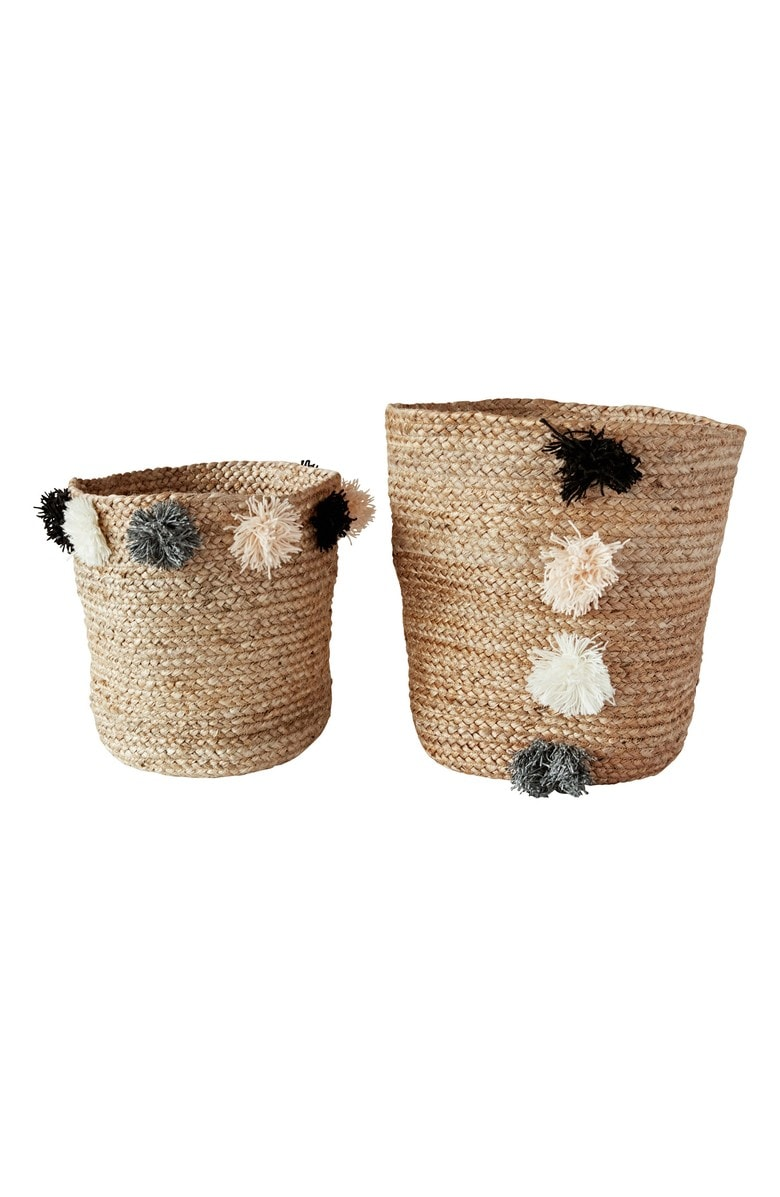 Such a steal for these 2 jute baskets!