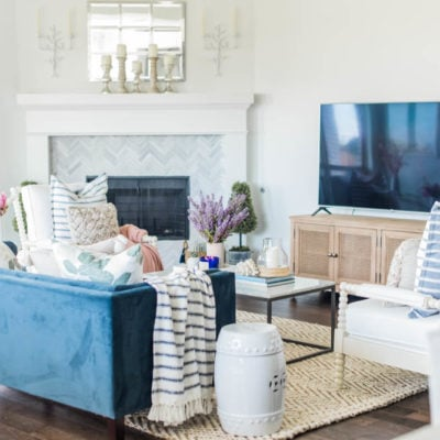 Loveliest Looks of Summer Tour + Summer Living Room Home Decor Ideas