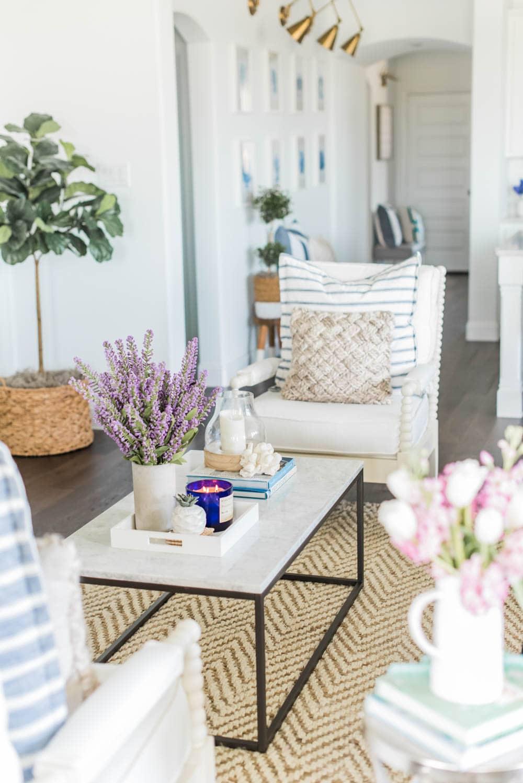 Summer Living Room Home Decor Ideas + Loveliest Looks of Summer