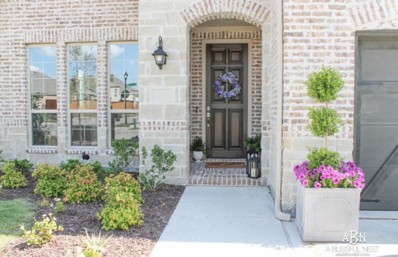 My Summer Front Porch + Entryway Reveal