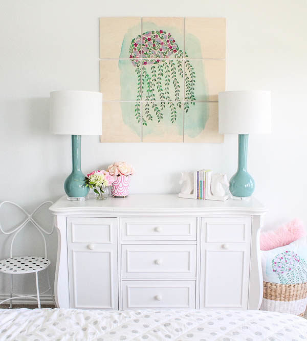 Little Girl's Room Refresh + Custom Wall Artwork