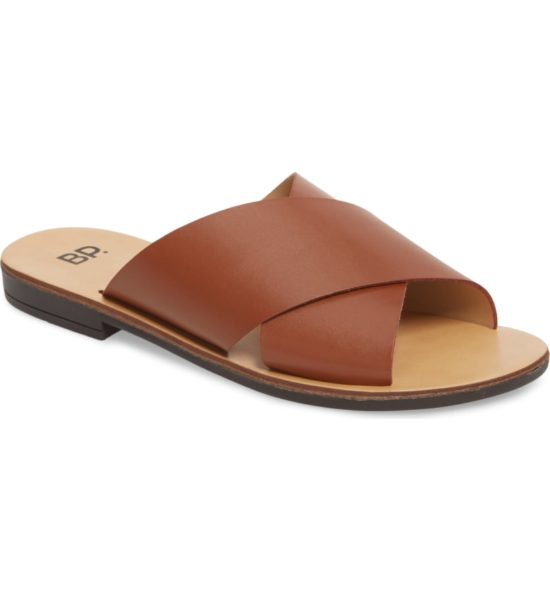 Twist Cross Strap Sandal