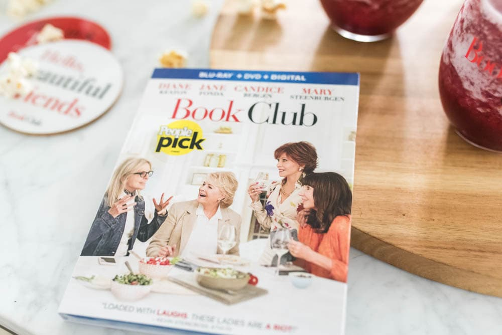 A delicious Spicy Wine Frosé Cocktail Recipe to celebrate a girls night in to watch Book Club! #ad #Bookclub