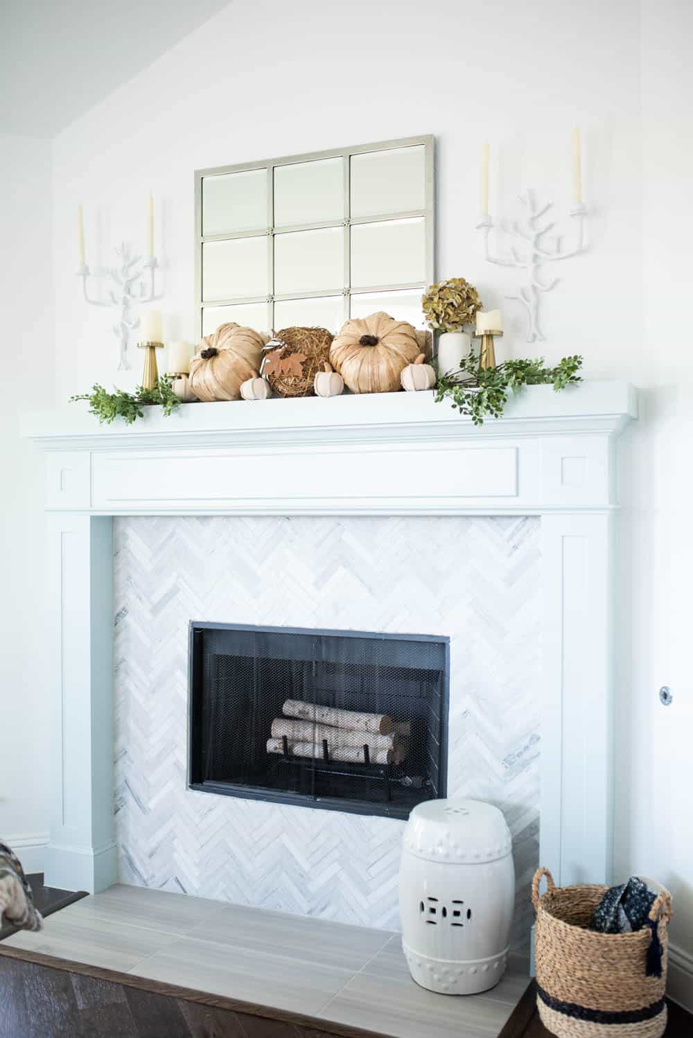 25 Inspiring Fall Mantel Decorating Ideas | A Blissful Nest