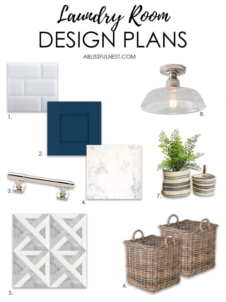 Laundry Room Design Plans with Floor & Decor