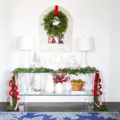Classic Christmas Front Porch and Entryway