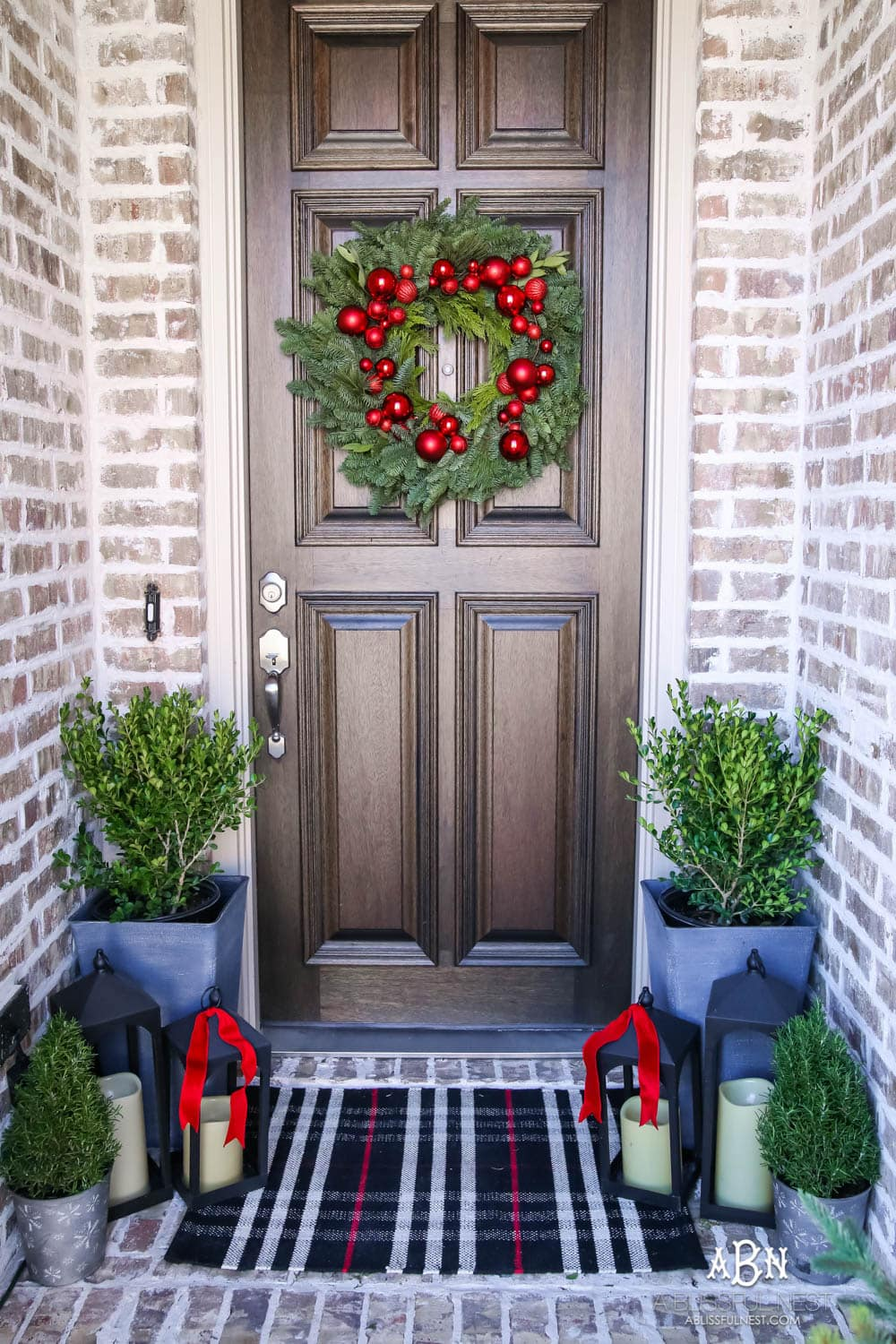 Classic Christmas Front Porch And Entryway A Blissful Nest