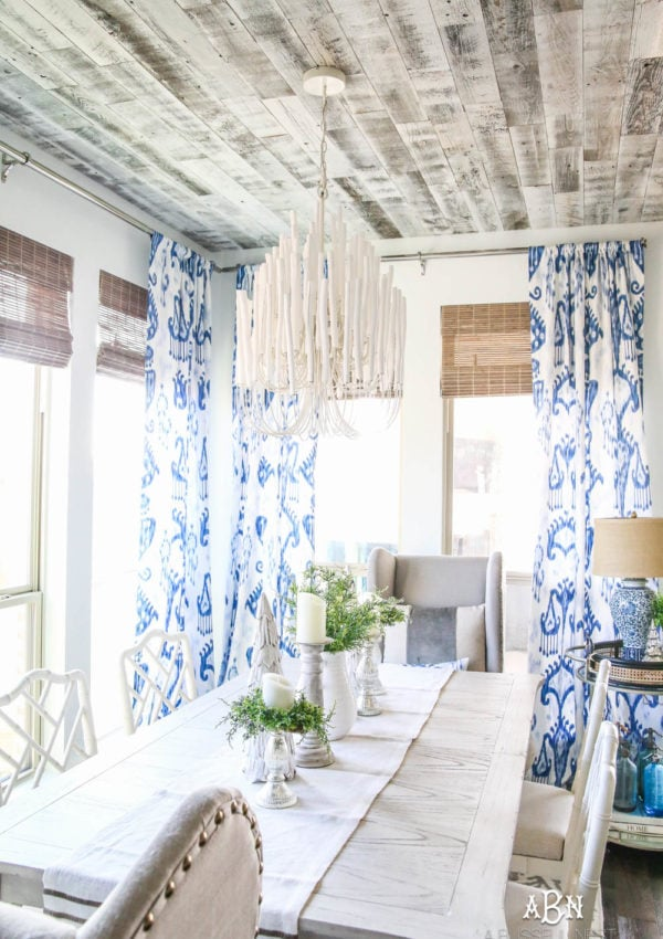Blue and White Breakfast Room Sources + Details