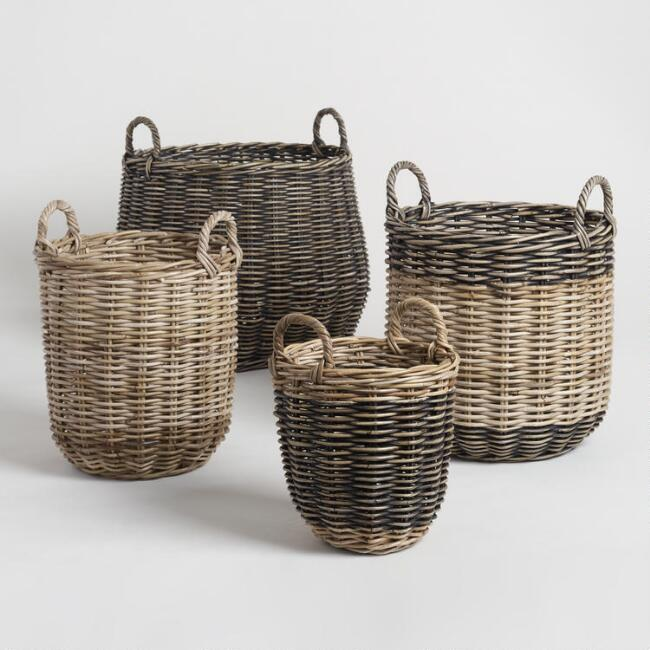 So many sizes available in these tote baskets to fit all your storage needs.