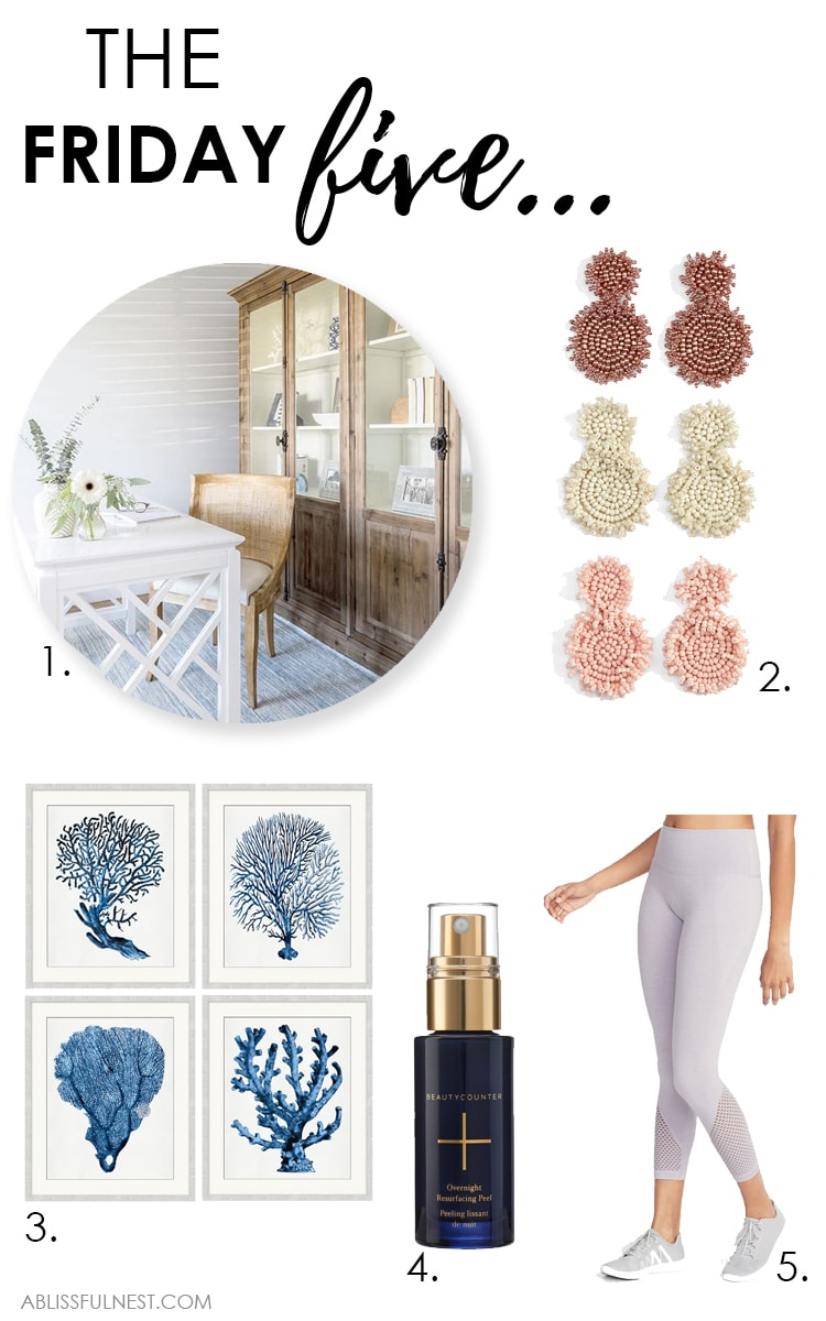 These are the top 5 home tour, items for your home and must have beauty and fashion items from the week! #ABlissfulNest