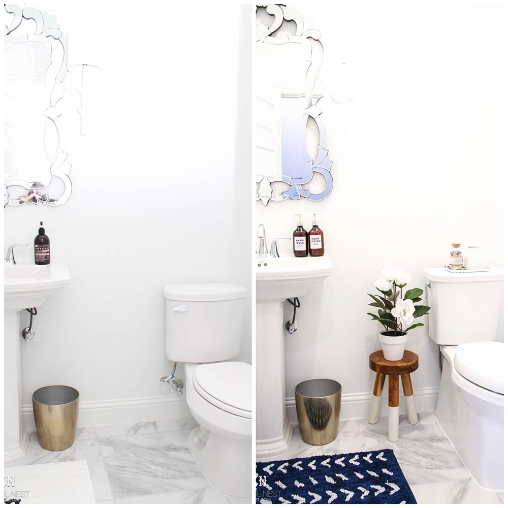 Grab these tips on how to incorporate the gorgeous Kohler Corbelle toilet into a fresh new space easily! #ad #kohlerideas