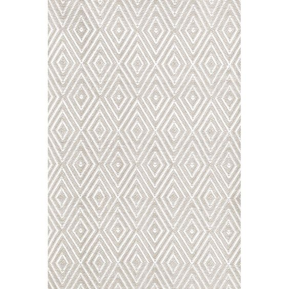 Diamond Platinum/White Area Rug