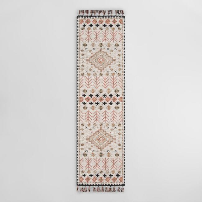 Ivory and Spice Tufted Wool Aelin Area Rug
