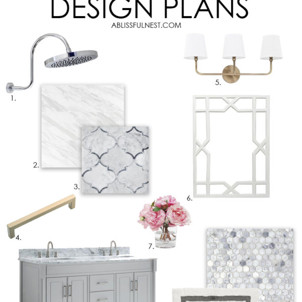 Guest Bathroom Design Plans with Floor & Decor