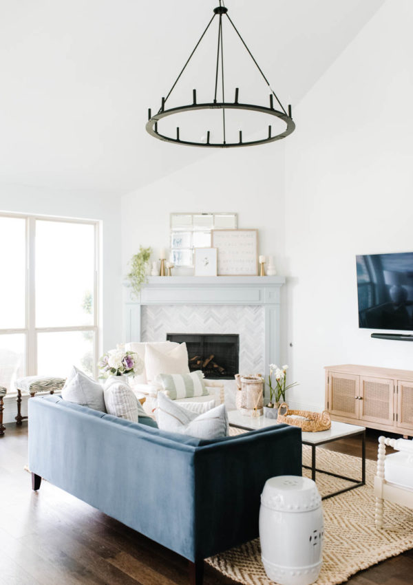 Summer Home Tour + Simple and Fresh Summer Living Room Decor
