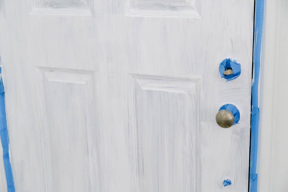 Interior Painted Front Door Makeover - Easy Entryway Update