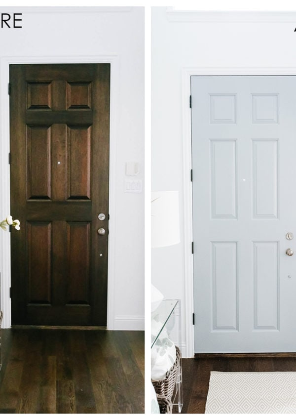 Interior Painted Front Door Makeover – Easy Entryway Update