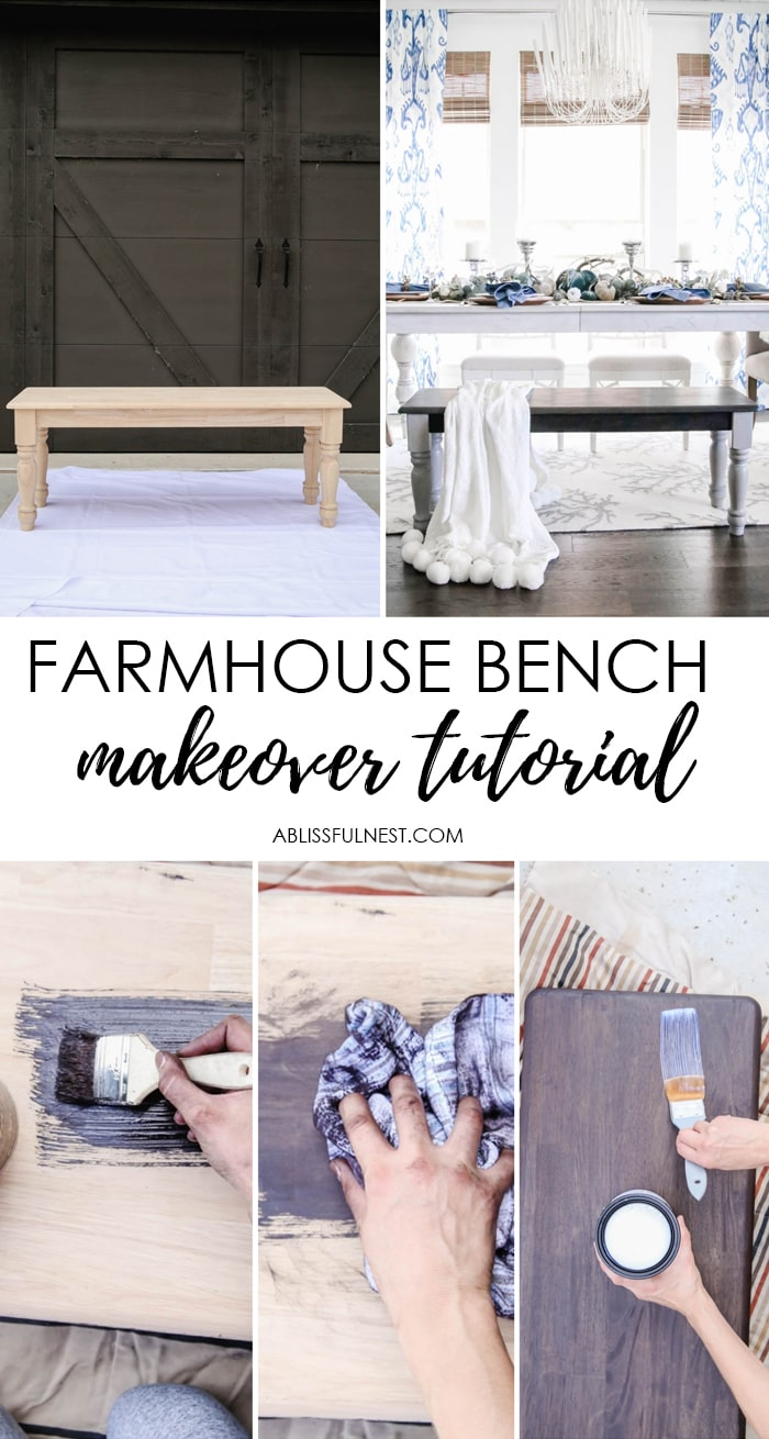 Such an easy step by step tutorial to create a two-toned finish for a piece of furniture for your home using Zar stain. #zar #ad #farmhousedecor