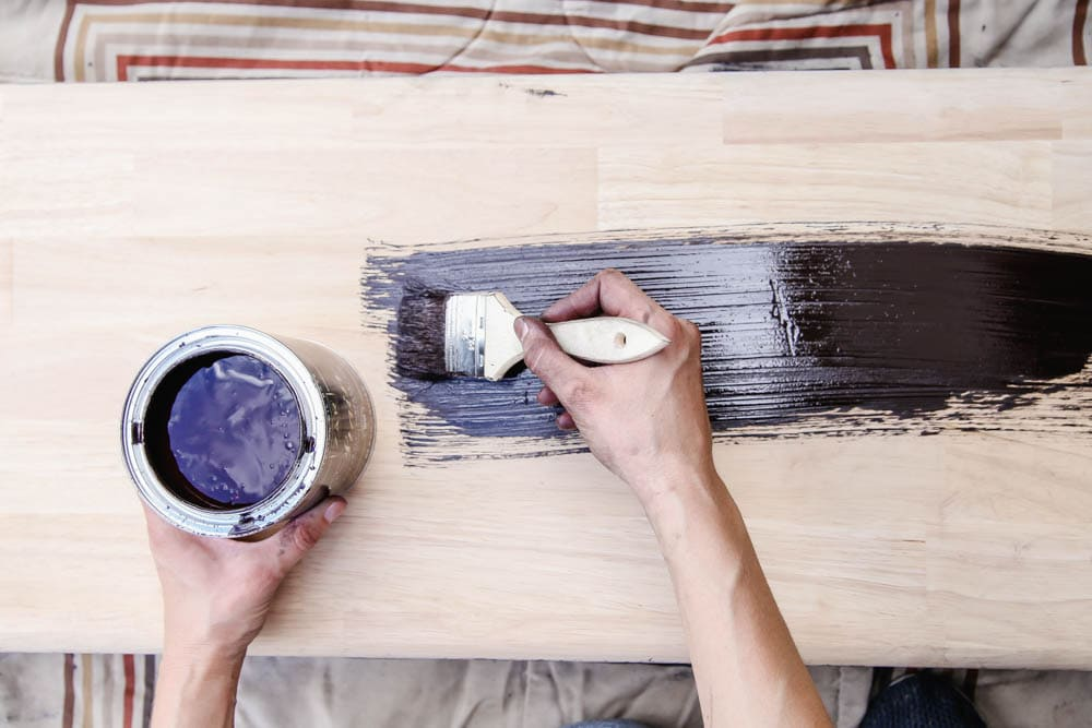 How to use stain to makeover furniture. #zar #ad